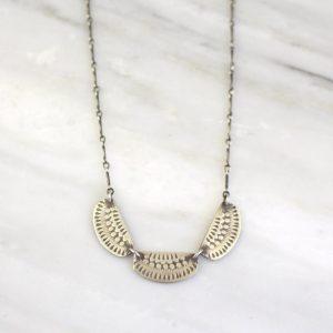 Asmi 3 Collar Oxidized Silver Necklace Sarah Deangelo