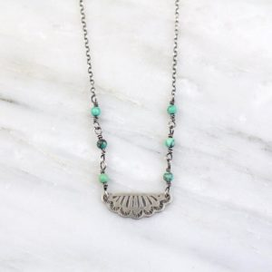 South West Pendant and Turquoise Necklace Sarah Deangelo
