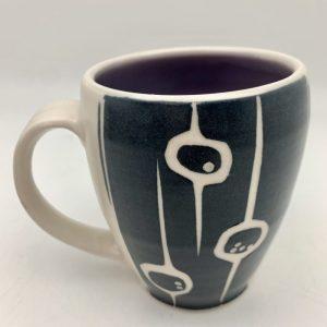 Berries & Vine Mug - Purple by Rita Vali