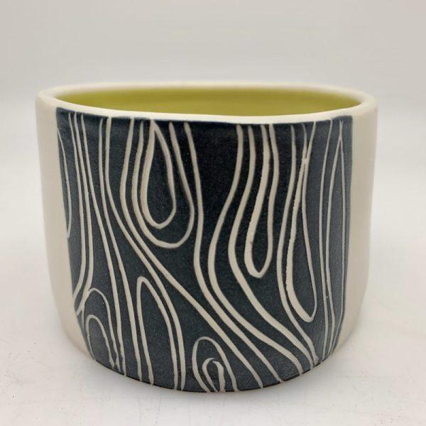 Lines Tidbit Bowl - Chartreuse by Rita Vali