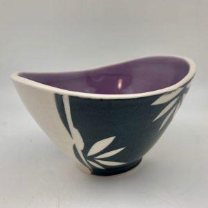 Flower Swoop Bowl - Purple Rita Vali