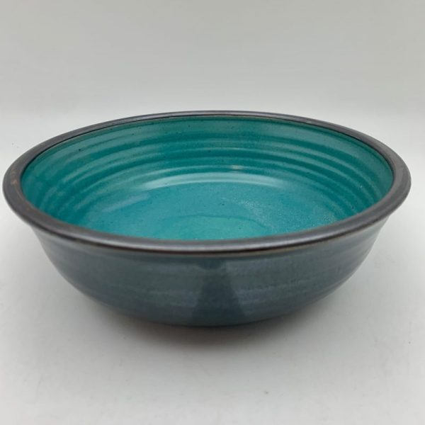 Black and Turquoise Bowl by Margo Brown