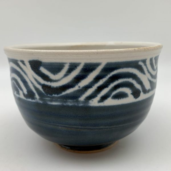 Navy Porcelain Bowl by Margo Brown