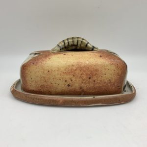 Yellow Butter Dish by Delores Fortuna