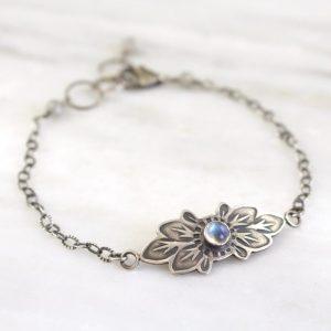 Moonstone Flower Bracelet