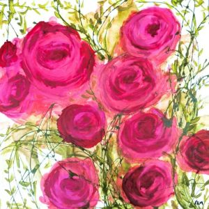 Roses Painting by Kelsey McDonnell - 273
