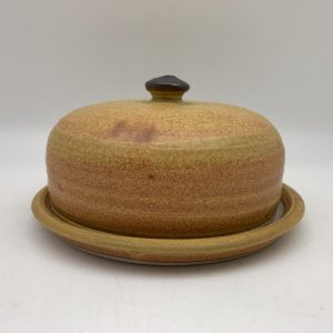 Yellow Porcelain Butter Dish by Margo Brown