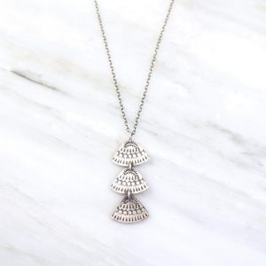 Asmi Triple Triangle Pendant Necklace Sarah Deangelo