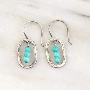 Stacked Turquoise Mini Hoop Earrings Sarah Deangelo