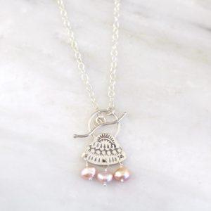 Asmi Pearl Toggle Necklace Sarah Deangelo