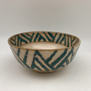 Patterned Porcelain Bowl by Margo Brown