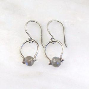 Labradorite La Cloche Earrings Sarah Deangelo
