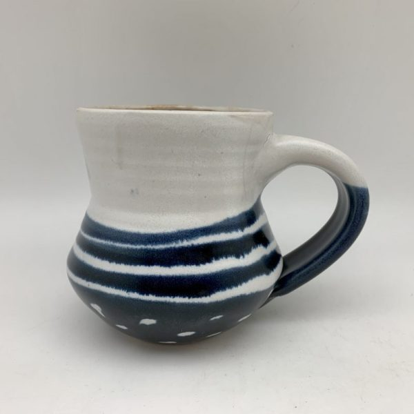 Dots and Stripes Mug by Margo Brown