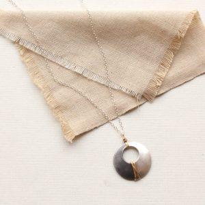 Dipped Pendant Necklace Sarah Deangelo