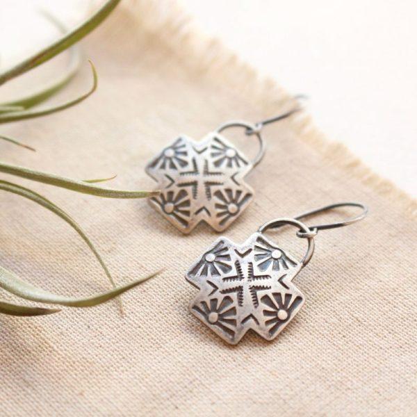 Sun Cross Earrings Sarah Deangelo