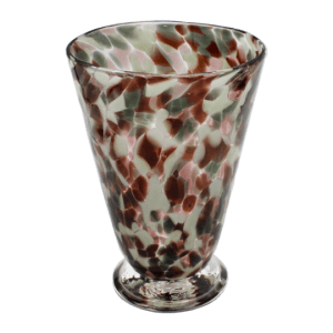 Speckle Cup - Aubergine and Grey Kingston Glass Studio