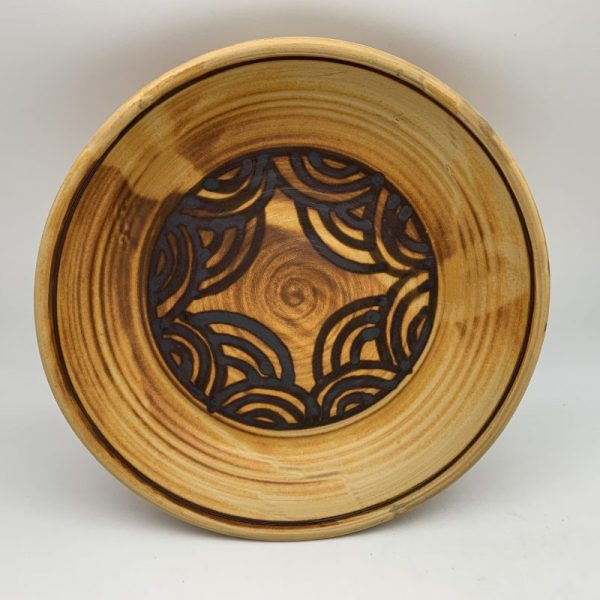 Yellow Patterned Pie Plate by Margo Brown - 2126