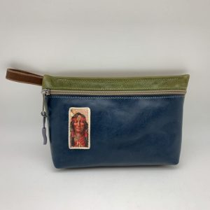 Everyday Stash Bag - Blue/Vintage Graphic Traci Jo Designs