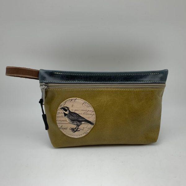 Everyday Stash Bag - Olive Green/Bird by Stacy Jo Designs