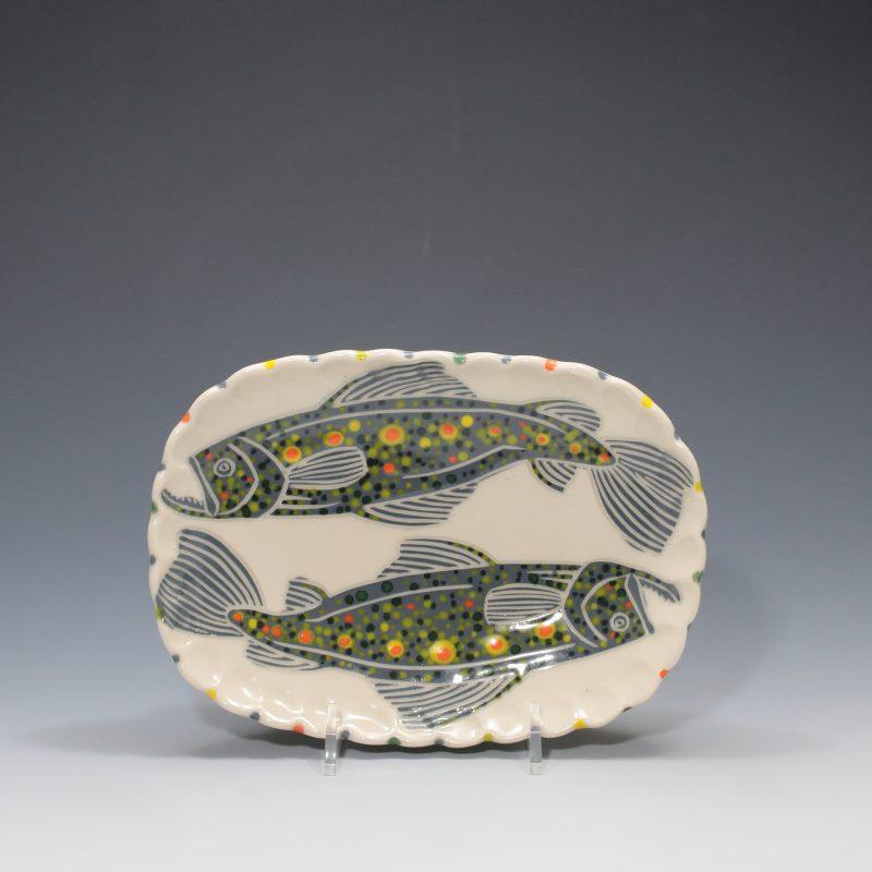 Trout Butter Plate Sue Tirrell