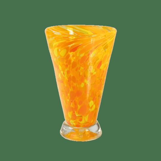 Speckle Cup - Orange Kingston Glass Studio