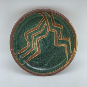 Decorated Lipped Plate by Margo Brown - 2253