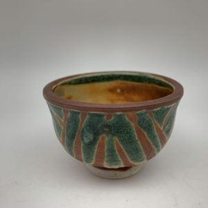 Mini Green-Patterned Bowl by Margo Brown - 2289