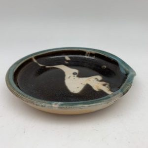Turquoise-Edged Spoon Rest by Margo Brown - 2220