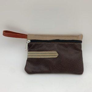 Mini Stash Bag by Traci Jo Designs - Dark Brown/Striped