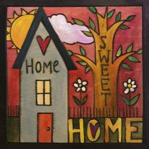 """Everybody's Home 6"""" Plaque by Sincerely Sticks"""