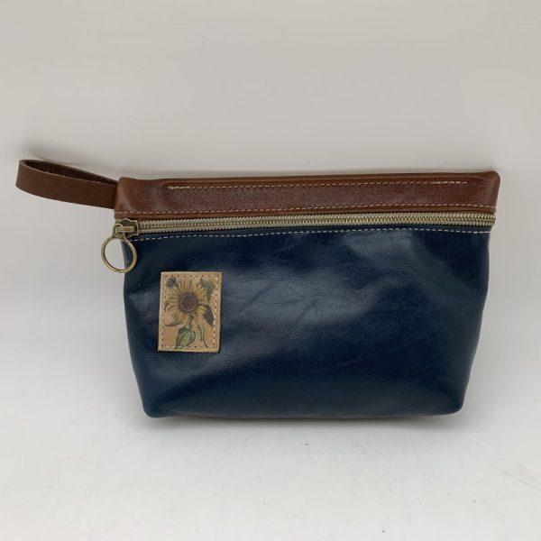 Everyday Stash Bag by Traci Jo Designs - Navy/Sunflower