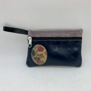 Mini Stash Bag by Traci Jo Designs - Navy/Oval
