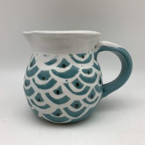 Scalloped Porcelain Pitcher by Margo Brown - 2486
