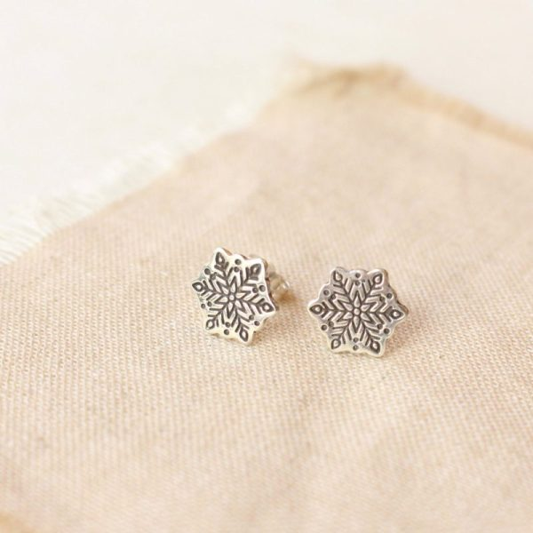 Snowflake Post Earrings by Sarah Deangelo