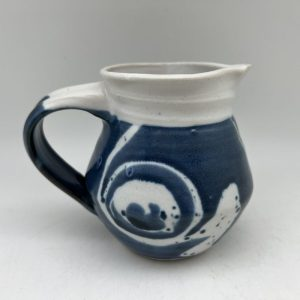 Navy and White Pitcher by Margo Brown - 2549