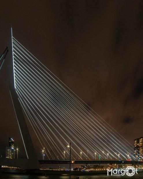 Rotterdam, de Erasmusbrug vanaf het Noordereiland