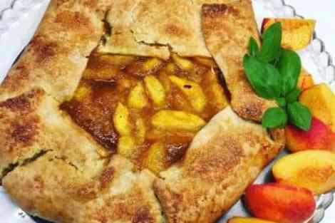 Peach Galette with Brown Sugar Caramel Recipe