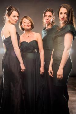 web_Trigon v.l.n.r. Marijke Meerwijk, Margot Kalse, Esther Kronenburg, Maria van Oosterhout