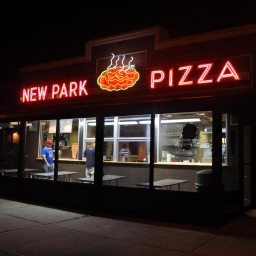 If you're at New Park Pizza, you've gotta get it well-done