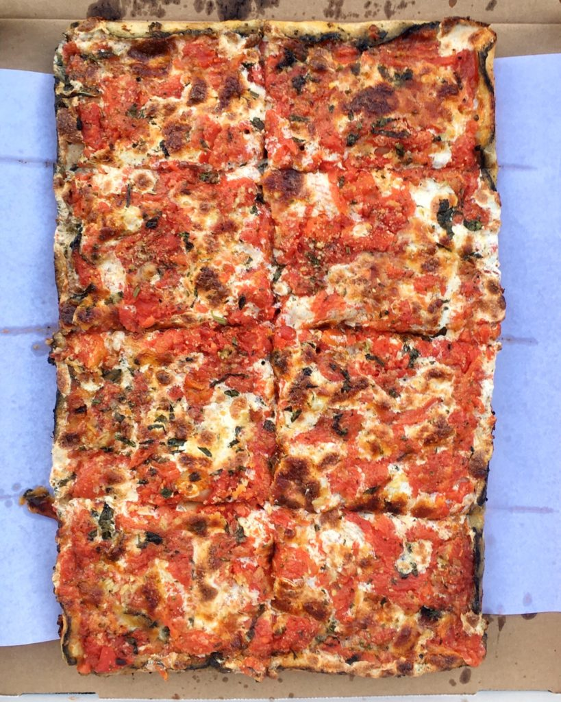 Louie's grandma pizza