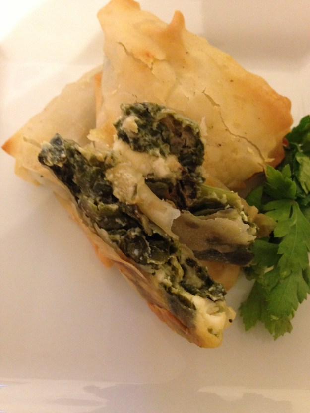 Delicious Chard Borek - a great handheld after school supper.