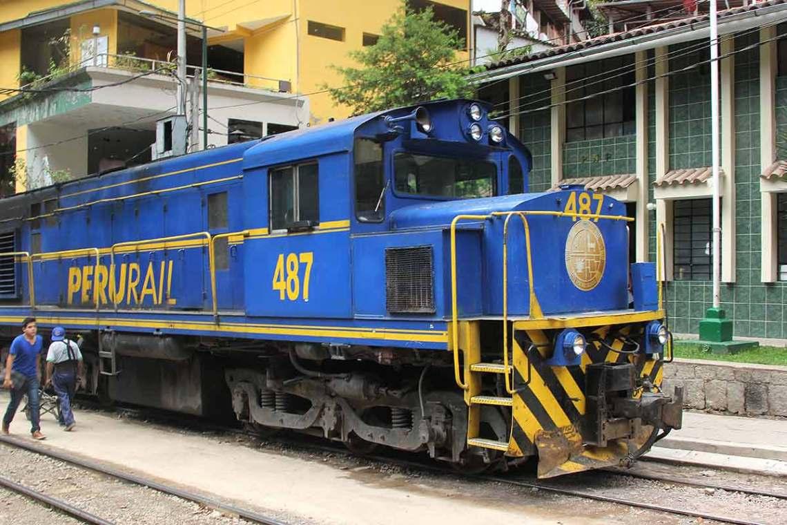 Train at Aguas Calientes
