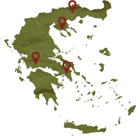 Malagouzia wine map, Tourism - Itineraries - Margo Wine Routes