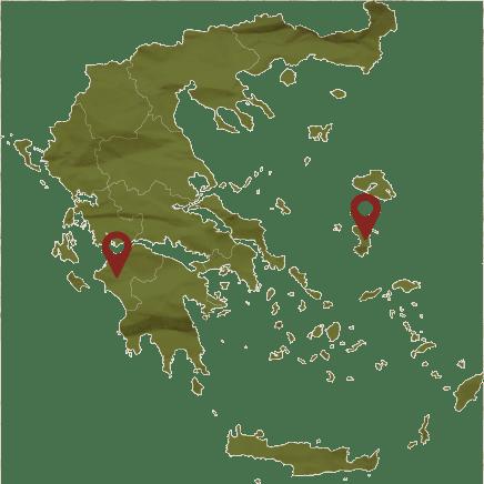 Moshato lefko map location, Tourism - Itineraries - Greek wine