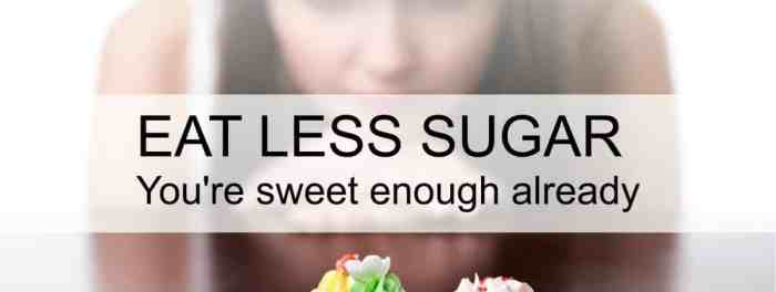 spis mindre sukker