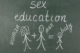 sex ed black board