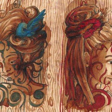 Café et texture du bois