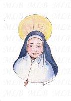 Sainte Emilie de Rodat - encre de Chine, aquarelle