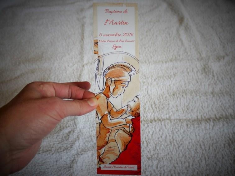 Conception et réalisation d'un signet de baptême