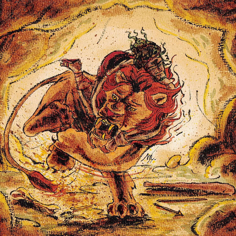 Héraclès et le Lion de Némée - illustration